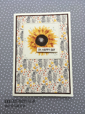 Oh Happy Day sunflower card by Stampin' Up! - create this simple Greetings Card