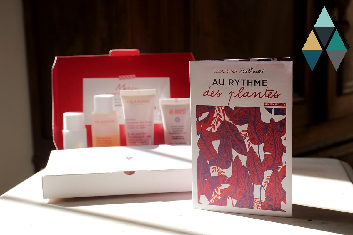 revue beauté nouvelle box clarins unlimited