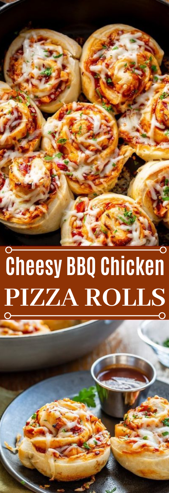 Cheesy BBQ Chicken Pizza Rolls #appetizers #pizza