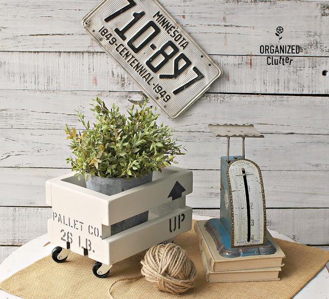 Indoor/Outdoor & All Season Stenciled Crate Ideas