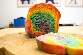 how to bake rainbow bread with kids