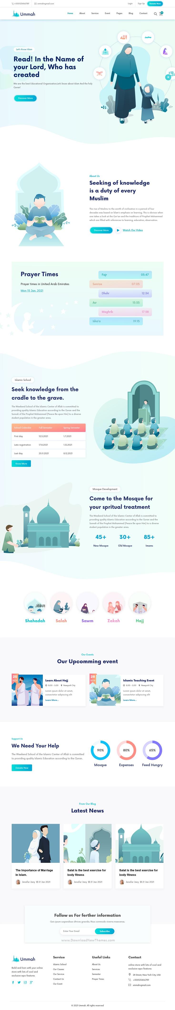 Islamic Center React Template
