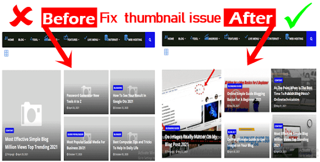 How to Fix Home Page Thumbnail Issue in Blogger-July 31-2021