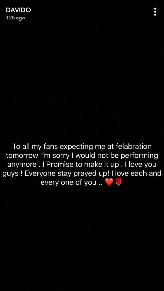 Davido-announced-he-won't-be-performing-at-Felabration