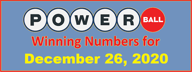 PowerBall Winning Numbers for Saturday, December 26, 2020