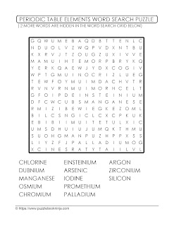 Challenging Word Search Puzzle - Academic Chemistry