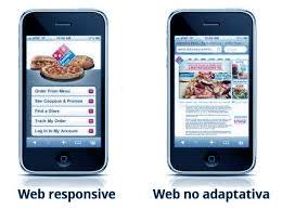 Ejemplo de diseño web no adaptativo para Smartphones y Laptops