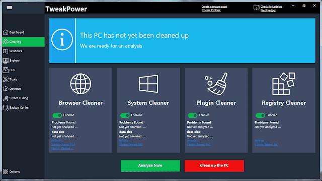 Screenshot TweakPower 1.088