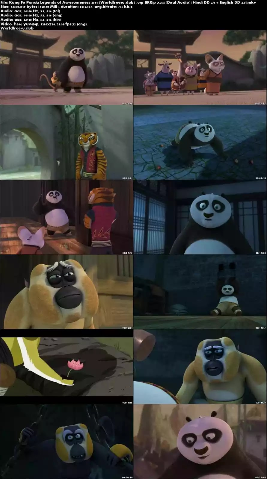 kung fu panda legends of awesomeness 480p download