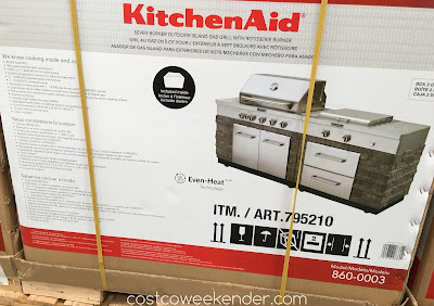 Costco 795210 - Cook up a storm with the KitchenAid Seven Burner Outdoor Island Gas Grill (model 860-0003)