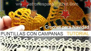Puntillas con Campanas para Navidad / Tutorial en Español