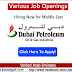 Job Openings at Dubai Petroleum