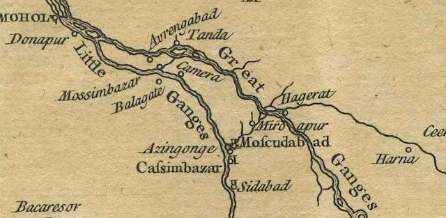Old Murshidabad Map