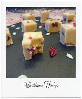 Packed with Christmas flavours of cranberries, cinnamon, mixed spice & orange, this delicious Christmas fudge is finished with holly sprinkles to make a pretty and edible homemade gift for loved ones.
