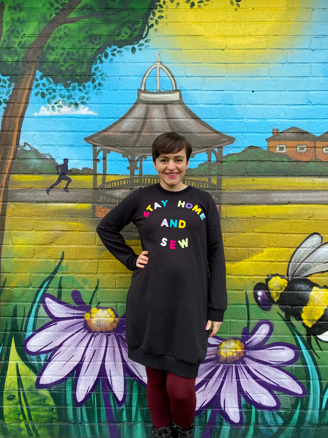 Tilly's Stay Home and Sew Billie Sweatshirt Dress - sewing pattern from Tilly and the Buttons