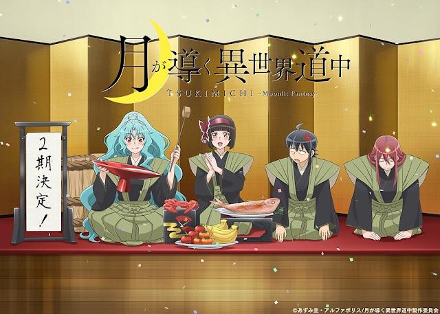 Anime Tsuki ga Michibiku Isekai Douchuu tendrá segunda temporada