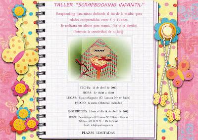 """Taller """"scrapbooking"""" infantil"""