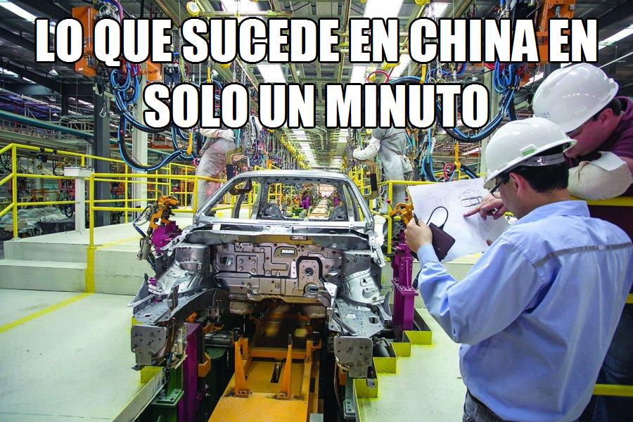 Lo que sucede en China en solo un minuto