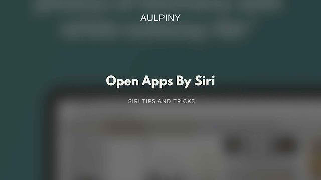 Opening apps by using siri