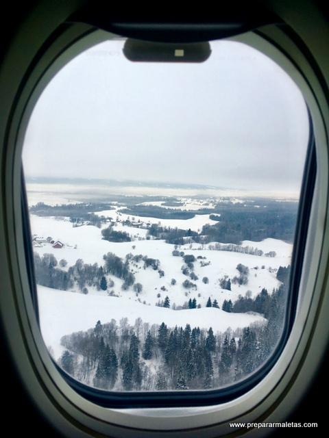 aterrizando en Oslo