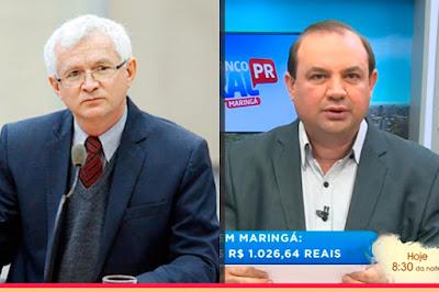 O vereador Mariucci e o apresentador Salsicha. Café com Jornalista