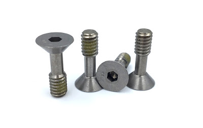 Custom Captive Shoulder Screws - Flat Socket Head In 302HQ DFARS Material