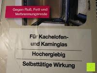 Scheibenreiniger Eigenschaft: Naturstein und Specksteinofen-Pflegeset 4 tlg.