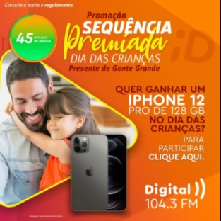 Sequência Premiada Digital FM 104.3 Dia das Crianças
