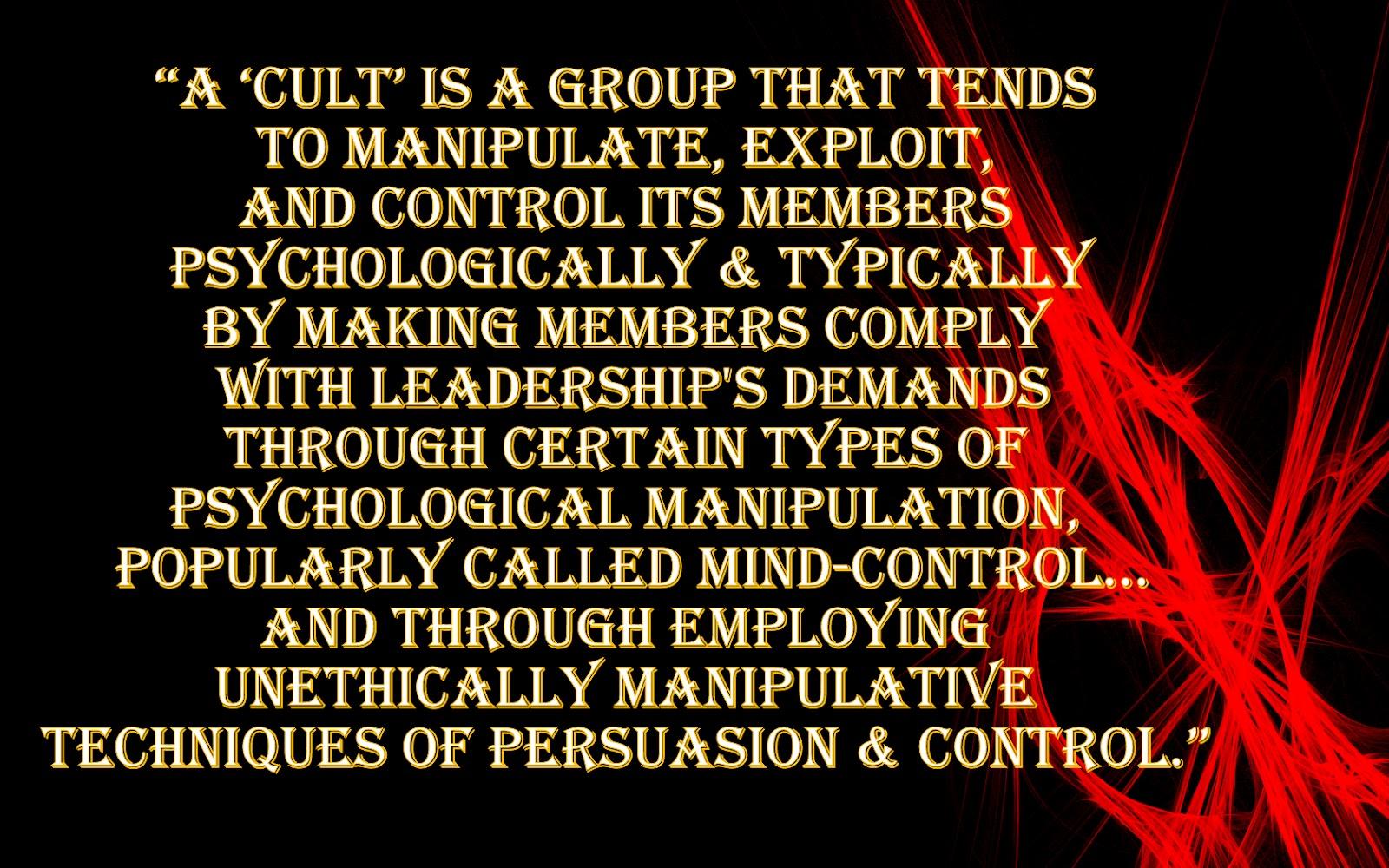 Understanding Mind Control & Exploitive Groups