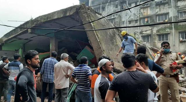 महाराष्ट्र के भिवंडी में इमारत गिरने से 10 के मारे जाने की आशंका में 10 लोग मारे गए