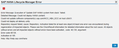 Troubleshooting SAP HANA Delivery Units and HANA Live Packages issues. (HALM).