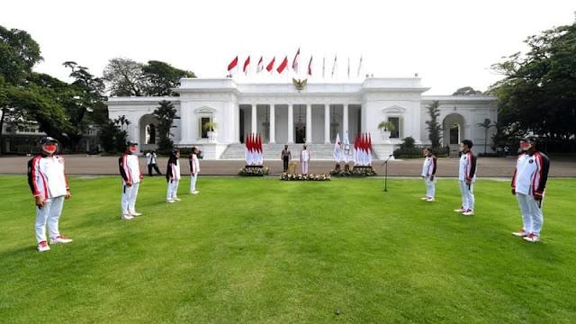 Presiden Jokowi Lepas kontingen Indonesia ke Olimpiade Tokyo 2021