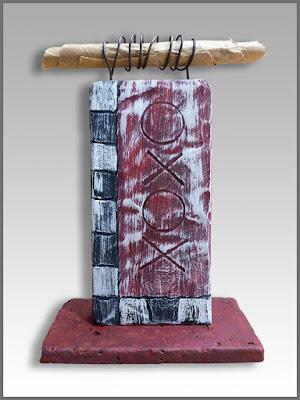 small desktop wood DIY sculpture