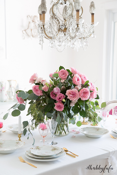 romantic shabby chic table centerpiece