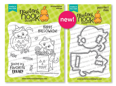 Trick or Treat Kittens Stamp Set & Die Set by Newton's Nook Designs #newtonsnook