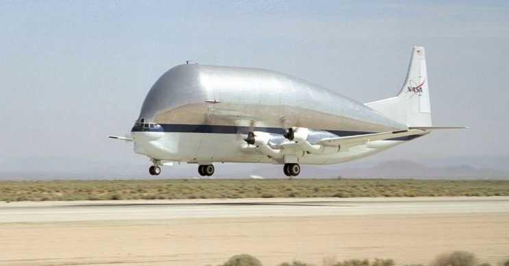 Super Guppy, Nasa tarafından kullanılan oldukça büyük bir kargo uçağıdır.