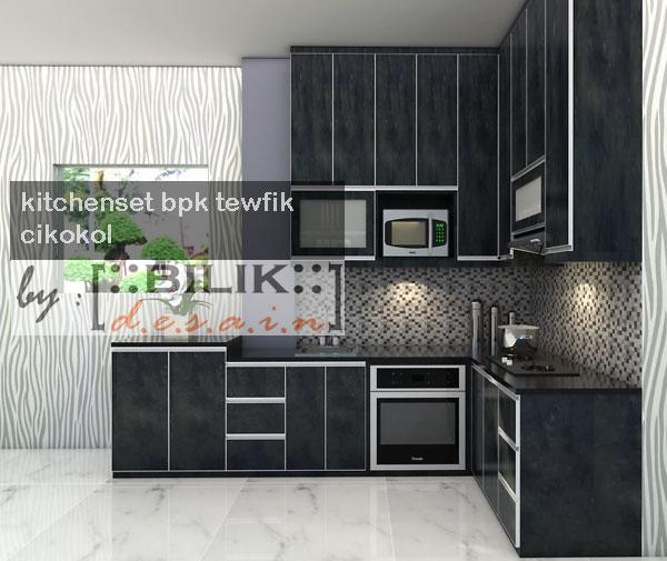 Kitchen Set Nuansa Hitam Mewah Glossy Di Cikokol Tangerang Harga