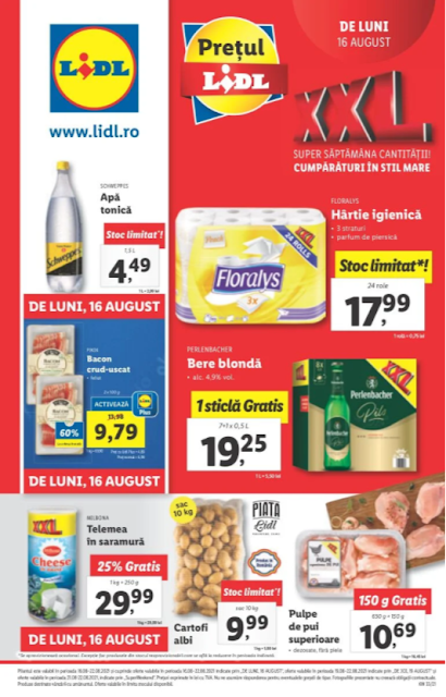LIDL Catalog - Brosura 16-24.08 2021→ XXL | Atractia Saptamanii | LidlPlus - Aktiveaza Cupoanele