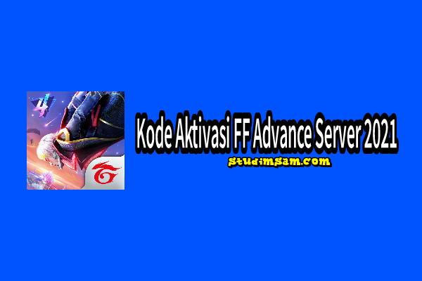kode aktivasi ff advance server 2021