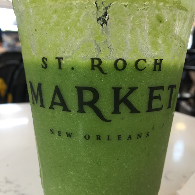 Kale smoothie at JuiceNOLA at St. Roche Market in New Orleans