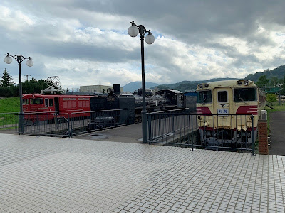 屋外エリアの鉄道車両展示