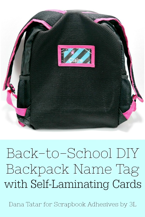 DIY Back-to-School Backpack Name Tag with Self-Laminating Cards