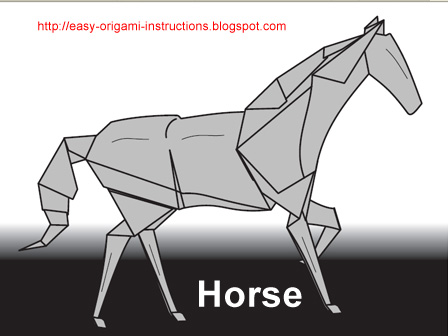 origami animation: origami horse instructions | 336x448