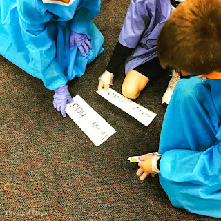 Students enjoy helping each other with their Contraction Surgery work!