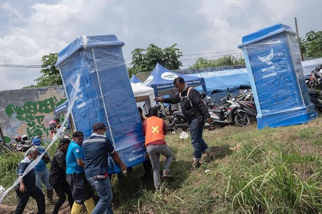 Danone-Aqua Dirikan Posko Kesehatan Bantu Korban Banjir Bandang Sukabumi