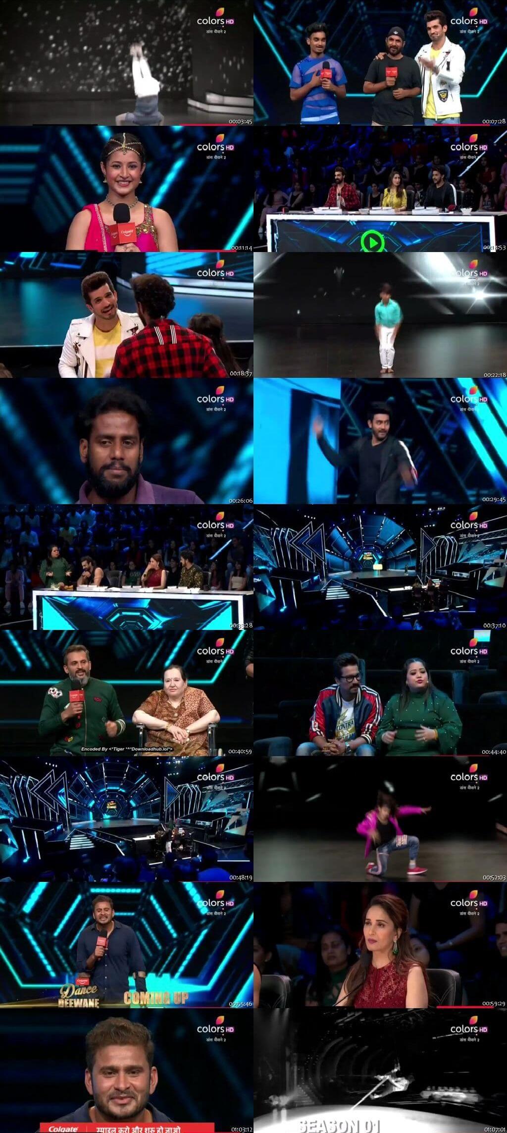Screenshots Of Hindi Show Dance Deewane 2 22nd June 2019 Episode 03 300MB 480P HD