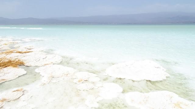 Large salt flats at the edges