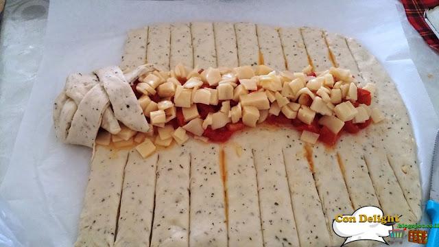 לחם מיוחד ממולא צעד צעד step by step bread design