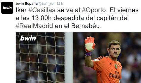 Los patrocinadores del Madrid adelantan la marcha de Casillas del club blanco