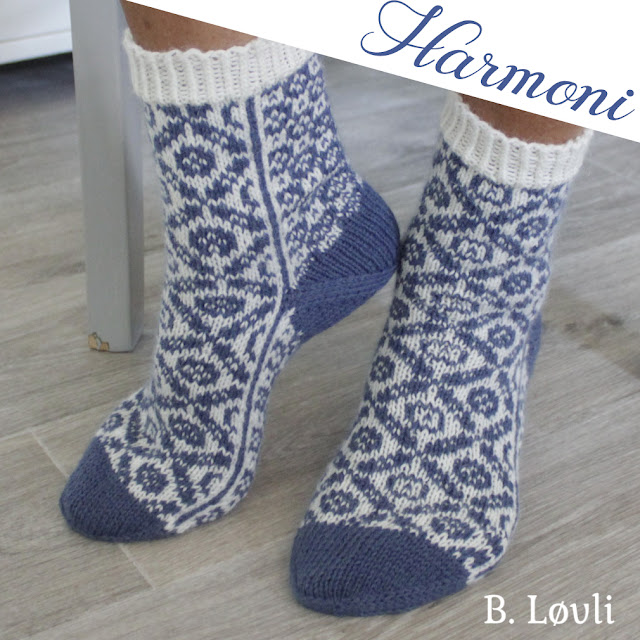 strikkeoppskrift på sokker - Harmoni